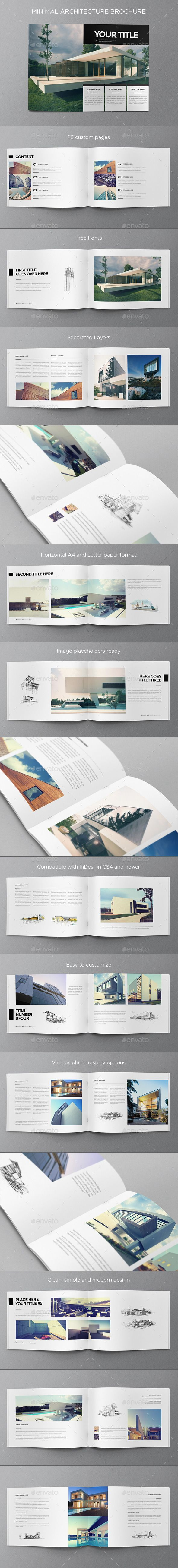 Minimal Architecture Brochure Template #design Download: http://graphicriver.net/item/minimal-architecture-brochure/9936143?ref=ksioks