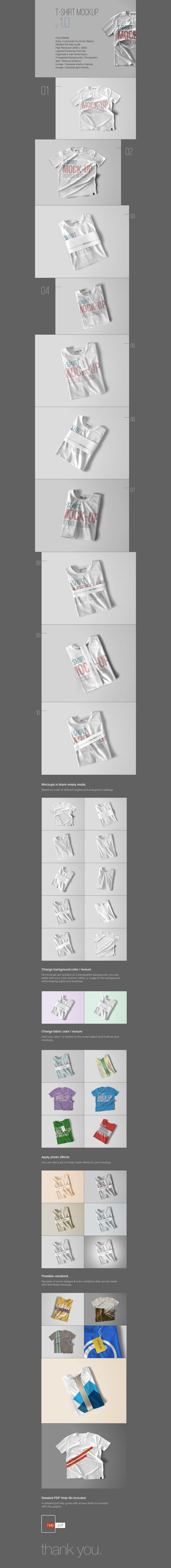 Free PSD T-Shirt Mockup Template #free #mockup #photoshop #t-shirt