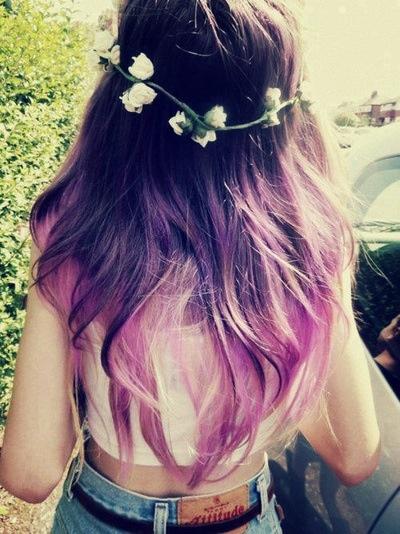 Purple ombre hair/ OR THIS ONEEEE AHHHH!
