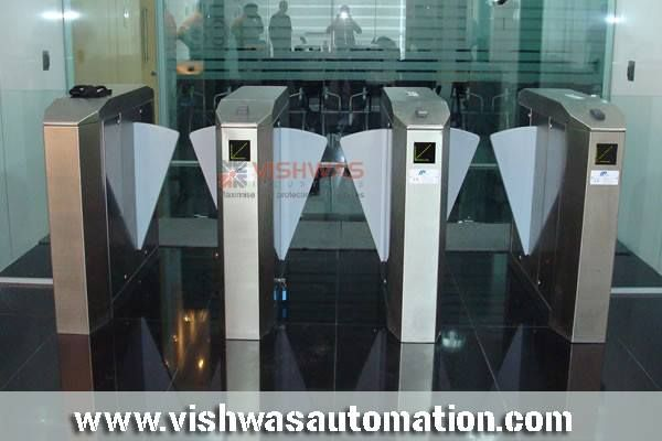 #FlapBarrier #Gates FLAPTILE series with unique design are available in retractable and swing type version to meet wide range of pedestrian applications like #Corporate, #Commercial centers, #Airports etc. We successfully install Flap Barriers in various cities in #India. http://www.vishwasautomation.com/flap-barrier-gates/