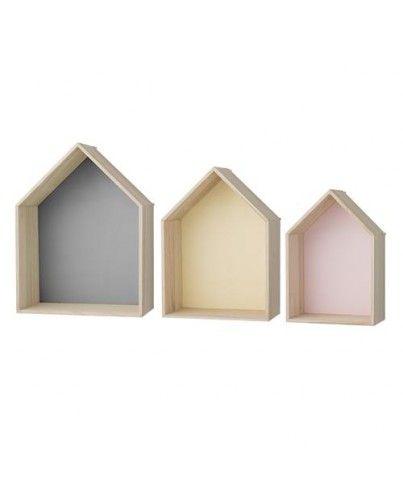 Estanterías de casitas.http://www.decoandliving.com/tienda/decoracion-pared/48-estanterias-de-casitas.html