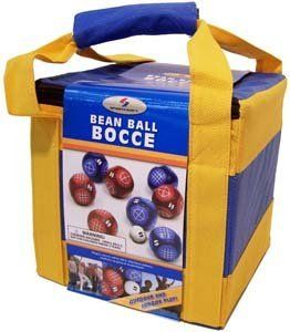 "Sportcraft Bean Ball Bocce Set by Sportcraft. $9.99. Enjoy the afternoon with Sportcraft Bean Ball Bocce, perfect for indoor or outdoor use. Just quickly unfold the target boards for hours of fun and when youre finished, put it away in its carry bag. Designed for the traditional player and offering eight 4"" x 4"" bean bags.. Save 80%!"