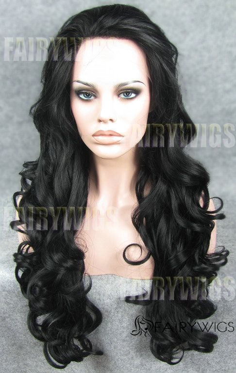Lustrous Long Sepia Female Wavy Lace Front Hair Wig 24 Inch