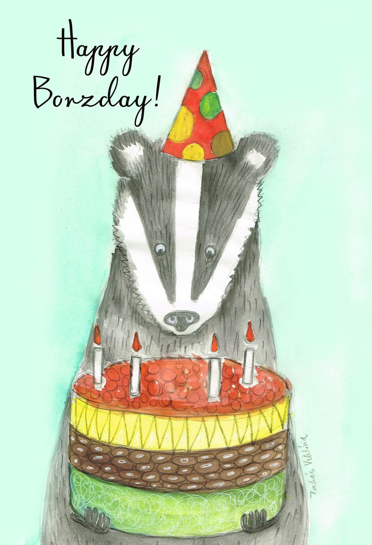 Happy Borzday! fyi: badger = borz in hungarian