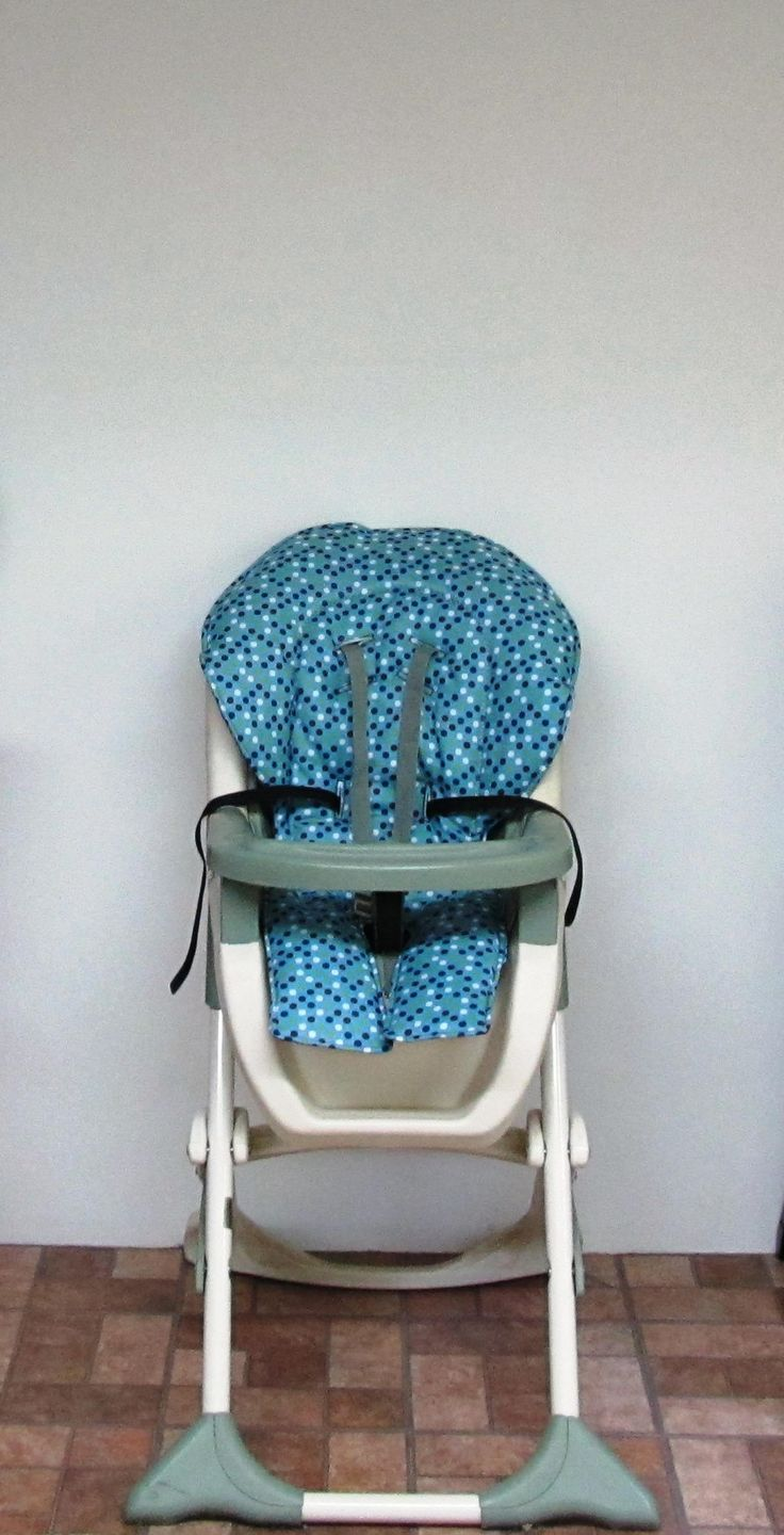 Replacement high chair covers - Graco High Chair Cover Chair Cushion Kids And Baby Feeding Chair Baby Accessory Chair Pad Replacement Nursery Child Care Dots On Blue