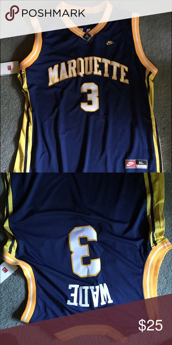 Dwyane wade Marquette home college Nike jersey Blue and gold. Brand new. Never worn, XL size. Wrong size Nike Other