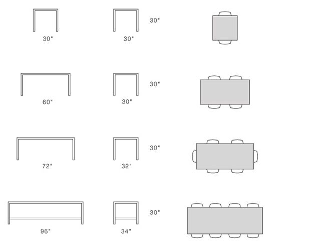 Standard Table Sizes   Google Search