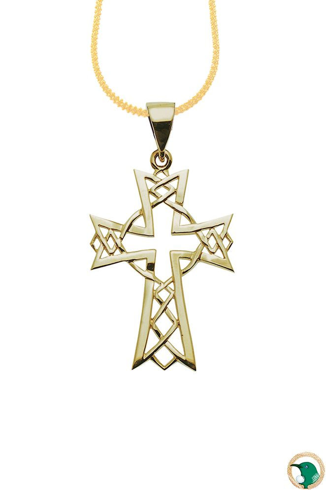 Gold Celtic Cross pendant - Our dainty 18ct yellow gold Celtic cross pendant.