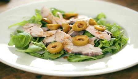 Pork and olive salad