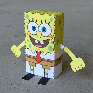 Sponge Bob Downloadable Paper Craft