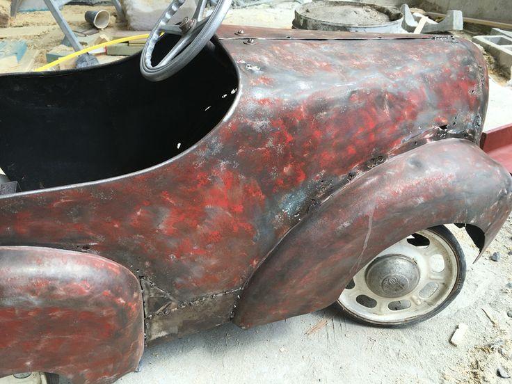 Beginning of rust repair