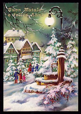 Cecami Serie 4962 Cartolina Buon Natale E Felice Anno Nuovo Fg Lucida Vg 1981