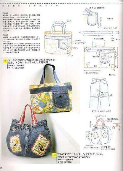 patrones para bolsos vaqueros                                                                                                                                                      Más