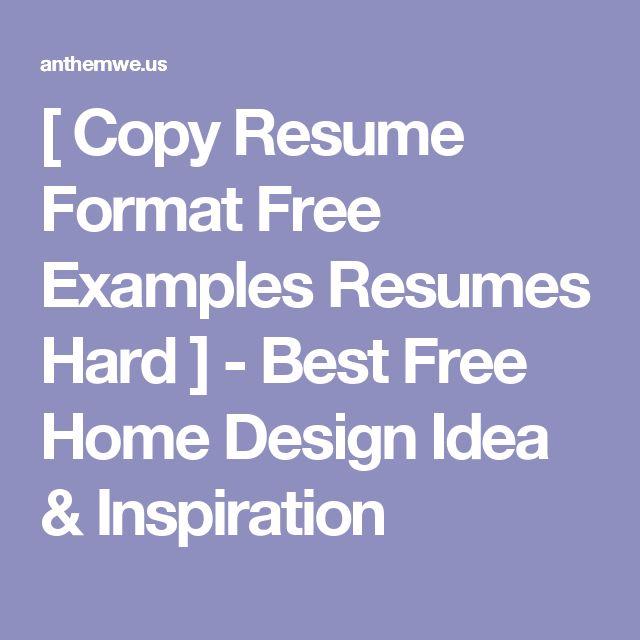 Más de 25 ideas increíbles sobre Mejor formato de hoja de vida en - copy resume format