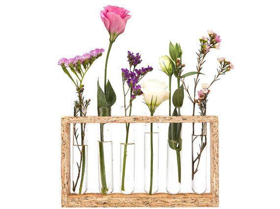 13 best images on pinterest for Test tube flower vase rack