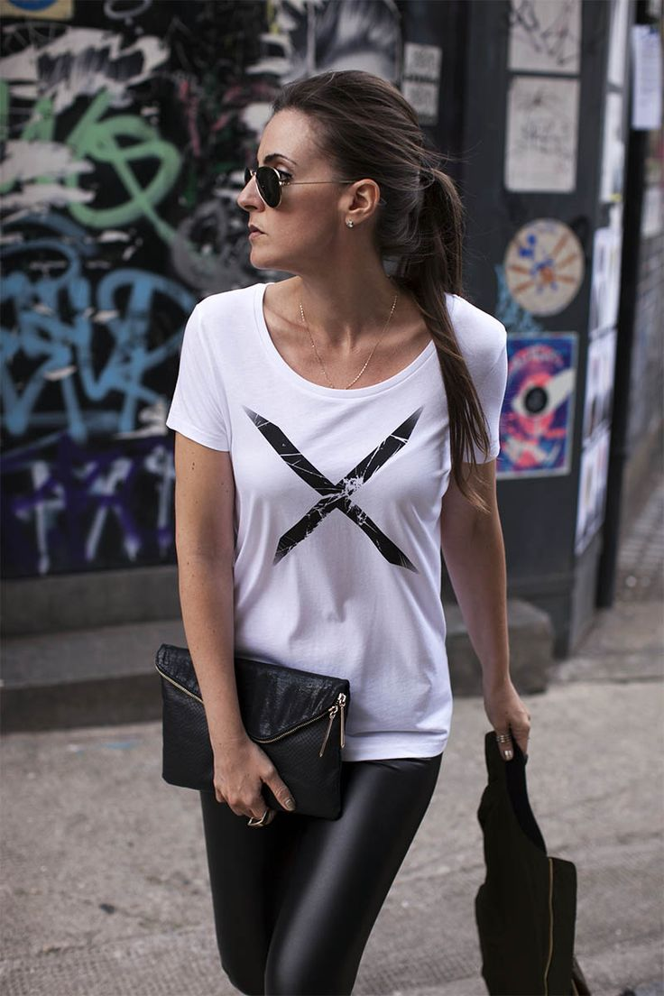 Ridley White Shattered Cross T-shirt | Urban Gilt Lookbook | Free Wordwide Delivery