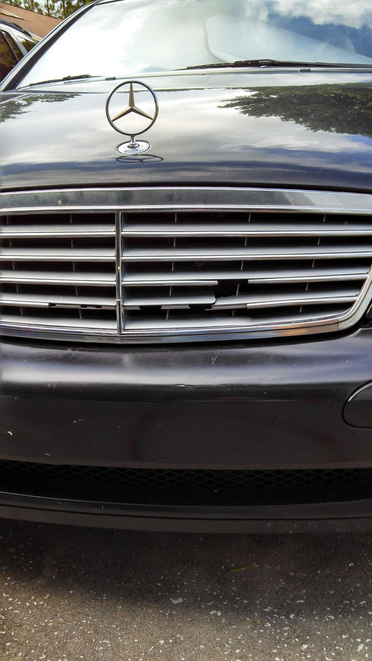 How to replace the front grille on a Mercedes C240 - yes this is the front of my car!