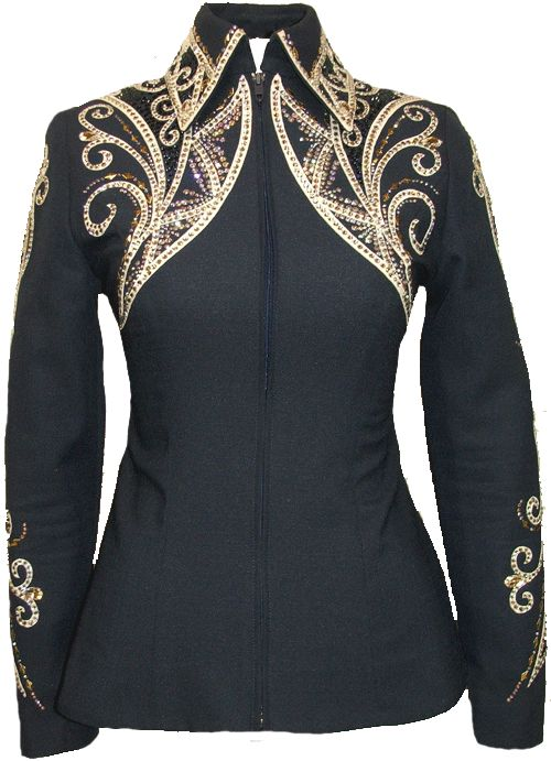 Would be a pretty design for a showmanship jacket, maybe with a different colored piping though....