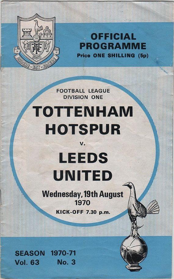 Vintage Football (soccer) Programme - Tottenham Hotspur v Leeds United, 1970/71…