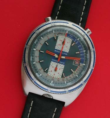 Vintage Bullhead Breitling Chronograph.    You don't see many bullheads.  I think they're neat.