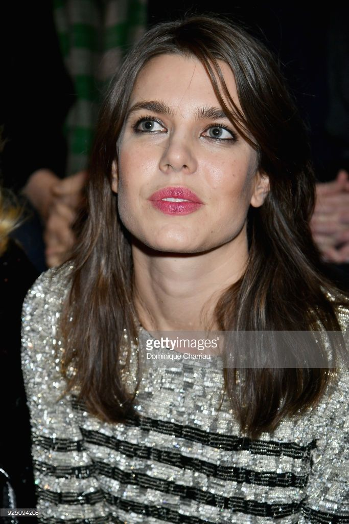 Charlotte Casiraghi attends the Saint Laurent show as part of the Paris Fashion Week Womenswear Fall/Winter 2018/2019 on February 27, 2018 in Paris, France.  (Photo by Dominique Charriau/WireImage)