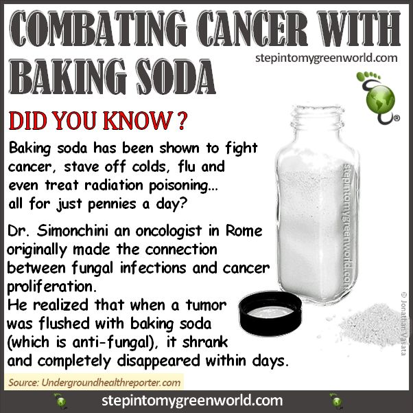 <3 baking soda and cancer