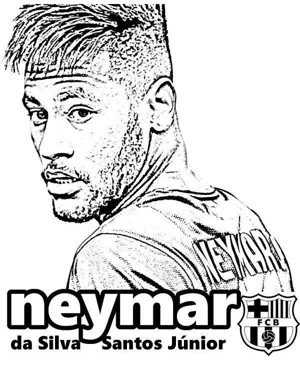 soccer coloring pages neymar barcelona - photo#5