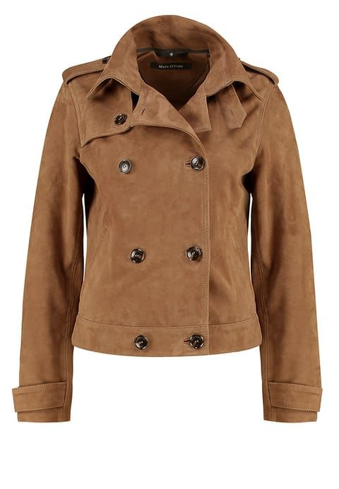 Marc O'Polo Leather jacket - rough camel for £329.99 (20/03/17) with free delivery at Zalando