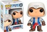 Connor Vinyl Figure Manufacturer: Funko Series: Assassins Creed Release Date: October 2013 For ages: 4 and up UPC: 849803037314 Details (Description): POP! Version of your favorite Assassins Creed Character.