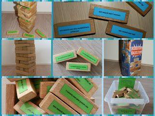 lesmateriaal en andere onderwijstips van juf Jantine: spelling oefenen met Jenga
