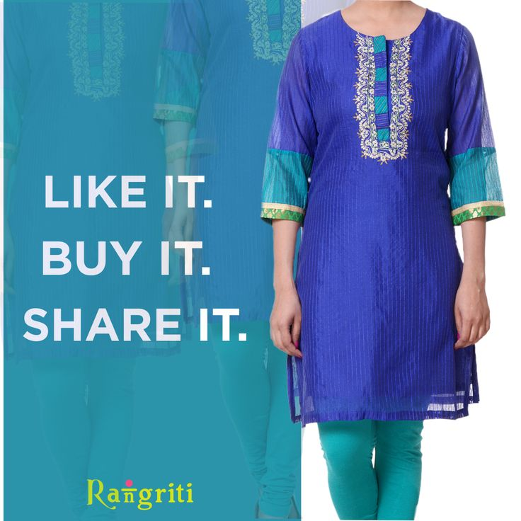 This gorgeous kurta will make the heads turn!  So don't wait and add it to your beloved closet NOW! bit.ly/1OiOJDa