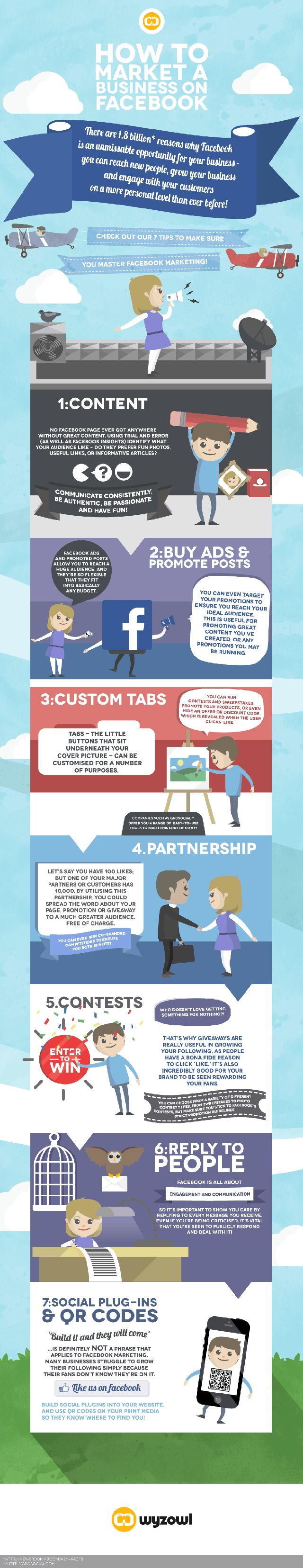 How to market a business on FaceBook #infografia #infographic #marketing #socialmedia