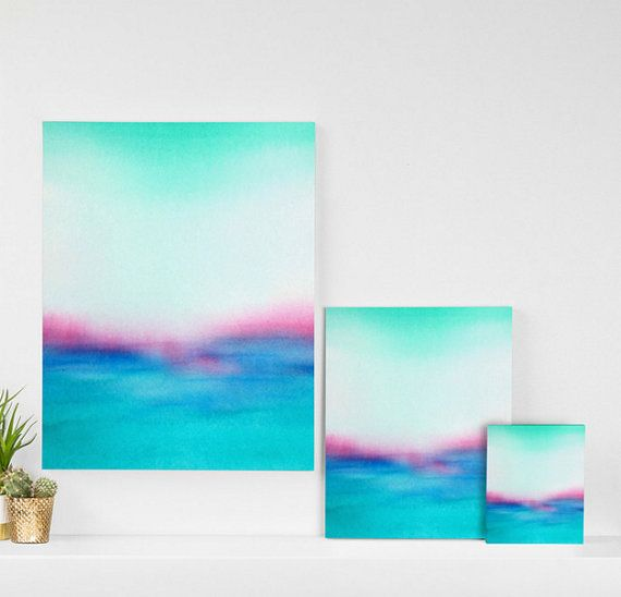 """25% off everything SALE thru the end of Deceember - Coupon code HOLIDAY25   In Your Dreams is a gallery wrapped canvas from my original watercolor painting.  Size dimensions:  8"""" x 10"""" x 1.5""""  16"""" x 20"""" x 1.5""""  24"""" x 30"""" x 1.5""""  - Matte finish with UV resistant inks  - Gallery wrapped edges with image wrapped around the sides  - Mounting hardware included  - Custom made in the USA  - Estimated Ship Date: 5 – 10 business days    SHOP http://www.etsy.com/shop/lauratrevey  Su..."""