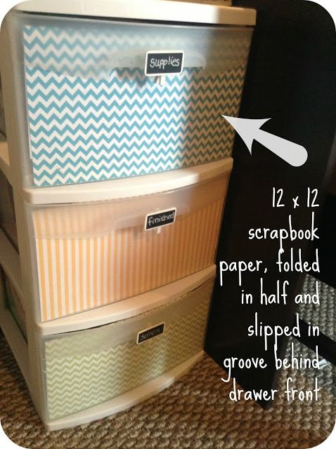 {Jenny Free Style}: Easy Plastic Storage Makeover                                                                                                                                                      More