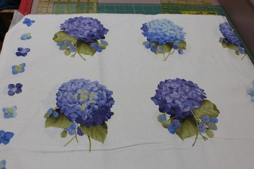 Lakehouse blue hydrangea corsage fabric sold by one half for Tattoo shops lafayette louisiana