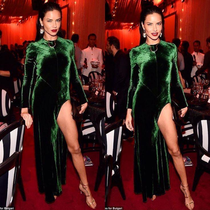 Zelena joj stoji kao salivena: Adrijana Lima obučena da impresionira - Hello! magazin