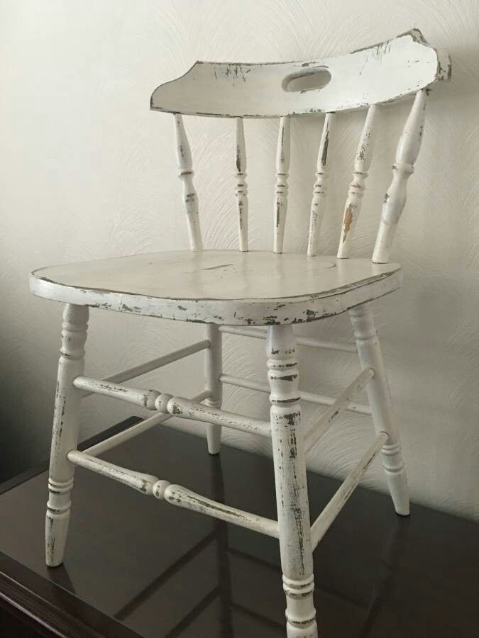 White Distressed Spindle Chair Distressed Chair Distressed Furniture Spindle Chair