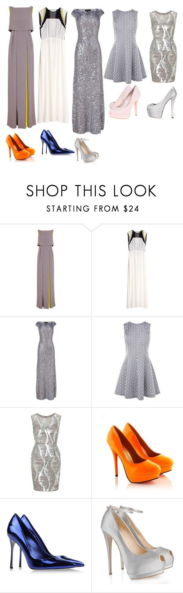 """""""Untitled #179"""" by dreamkm ❤ liked on Polyvore featuring Roksanda Ilincic, By Malene Birger, Jenny Packham, Oasis, Adrianna Papell, Sergio Rossi, Giuseppe Zanotti and Carvela"""