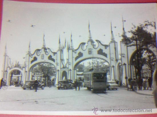 FOTOGRAFIA PORTADA FERIA DE ABRIL DE SEVILLA AÑOS 40 / 50 EN EL PRADO DE SAN SEBASTIAN - Foto 1