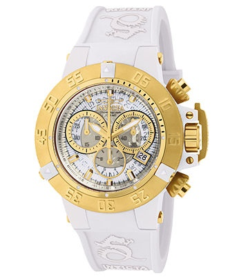 17 best images about invicta watches for any sneaker head on invicta watch women s chronograph subaqua white silicone strap 42mm 944 all watches jewelry