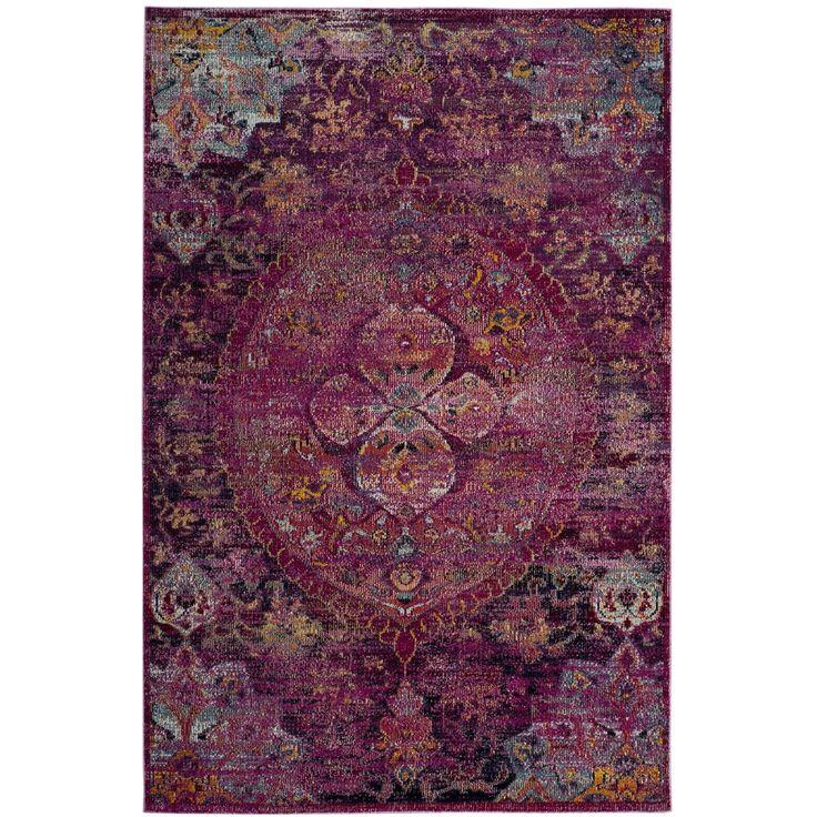 Safavieh Crystal / Purple Area Rug