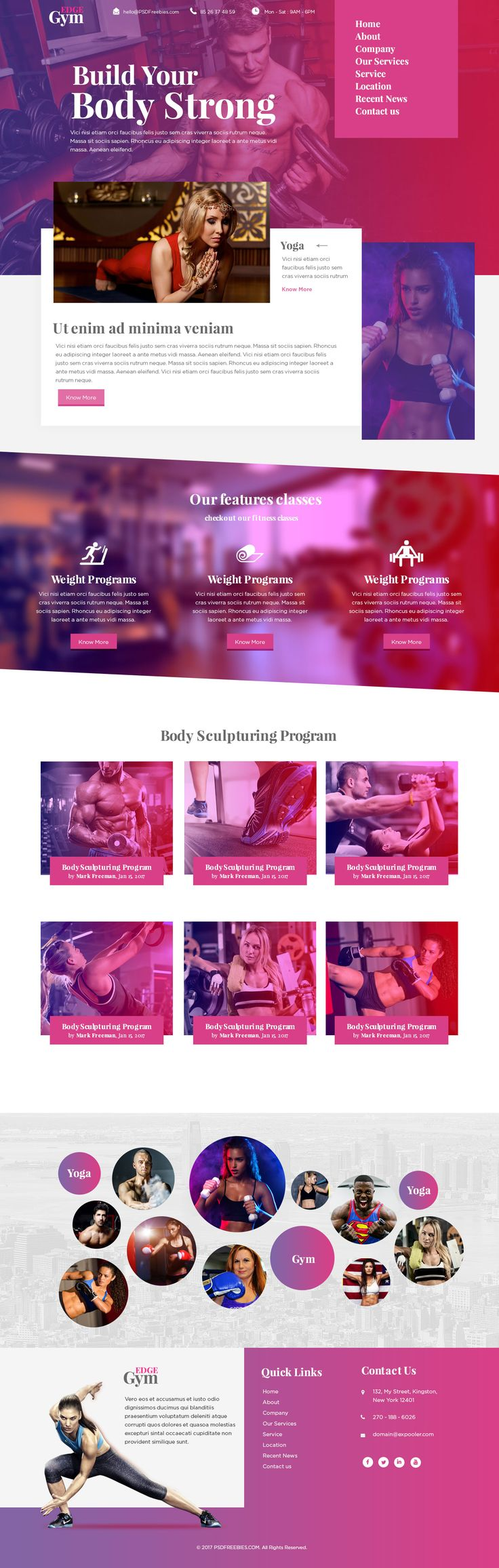 Sports and Fitness Website Template Free PSD. This Free Website PSD Template is one of the Latest and World Standard PSD Template.This…