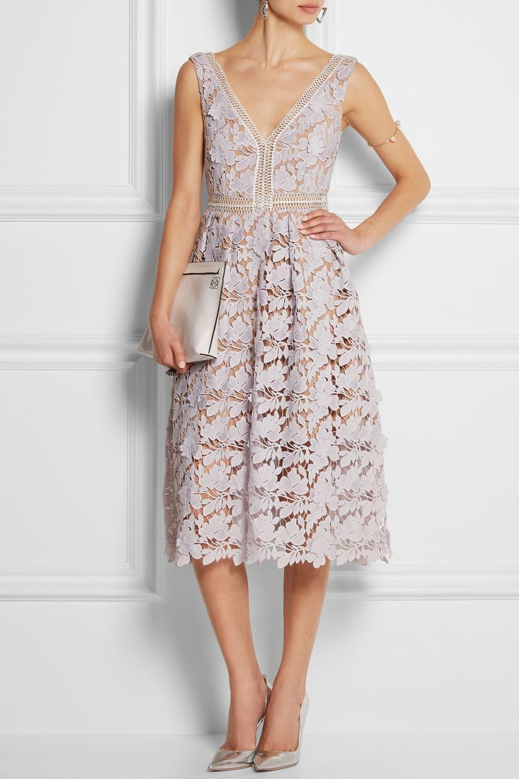 Self-Portrait|Guipure lace dress|NET-A-PORTER.COM, $520, polyester, lined, hand wash