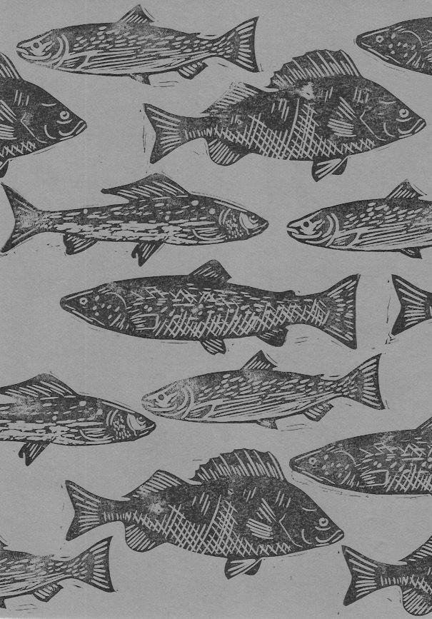 Lino stamp fish