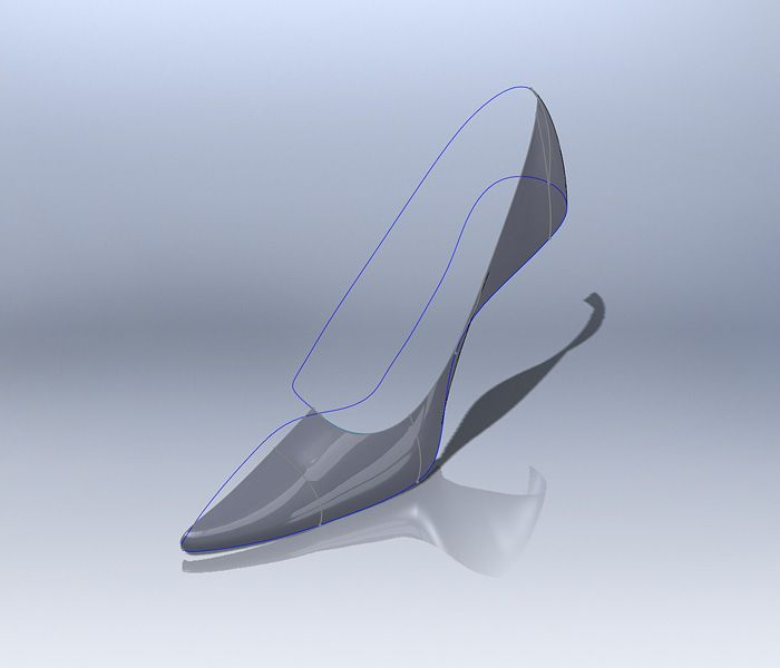 Modeling a shoe in Solidworks
