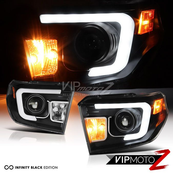 #2014 #2015 #2016 #Toyota #Tundra #TRD #Black #Neon #LED #SMD #DRL #Fiber # Optic #Headlights #VIPMOTOZ
