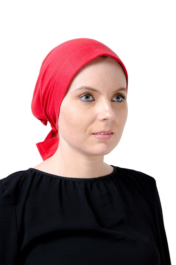 Egyptian Cotton Wide Headwrap in Red. #headscarves #cancerpatients #headcovers