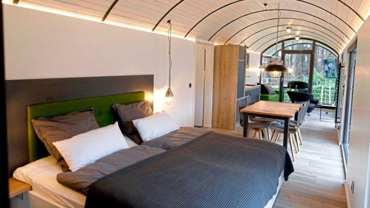 Schlafen auf Schienen - In diesem Loko-Motel herrscht richtig Zug