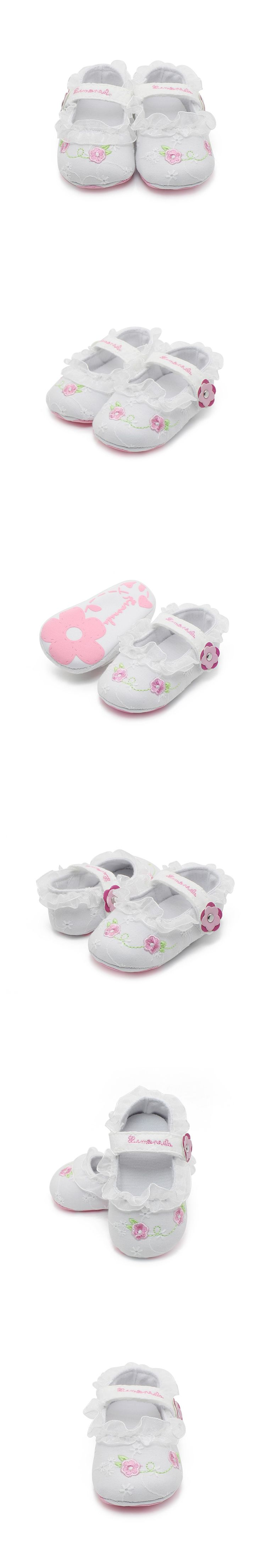 The Pink Embroidery Baby Shoes Brand Of Delebao Design Style Hot Sale Newborn Baby Girl Shoes High Quality First Walkers