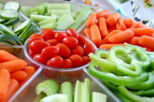 Veggie Tales birthday - Veggie Tray - love the colors